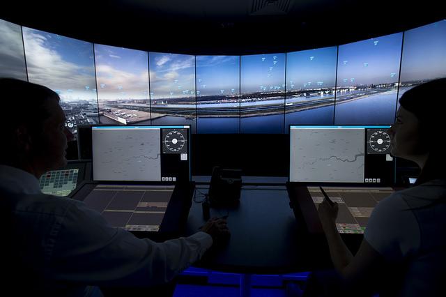digital remote tower control room