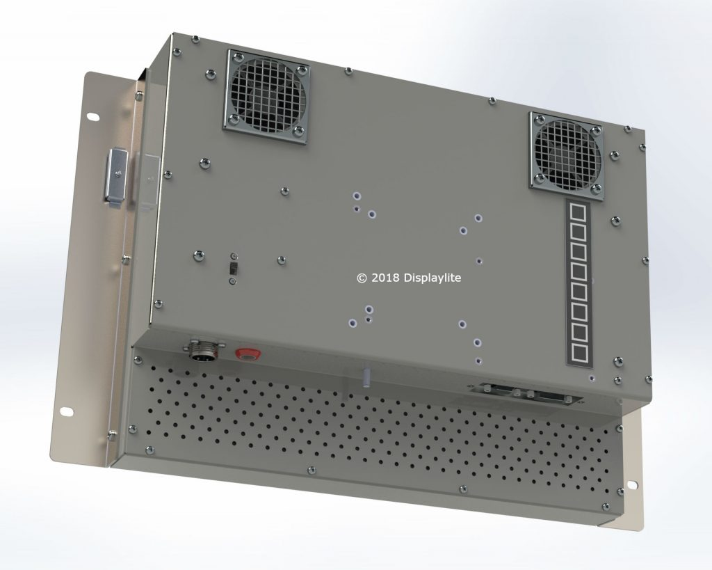 """17"""" high bright display designed & drawn by Displaylite using Solidworks."""